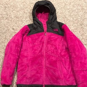 Girls North Face reversible jacket